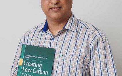 """Dr Shobhakar Dhakal publishes new book on """"Creating Low Carbon Cities"""""""