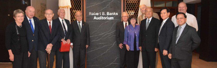 AIT auditorium is now Robert B Banks Auditorium