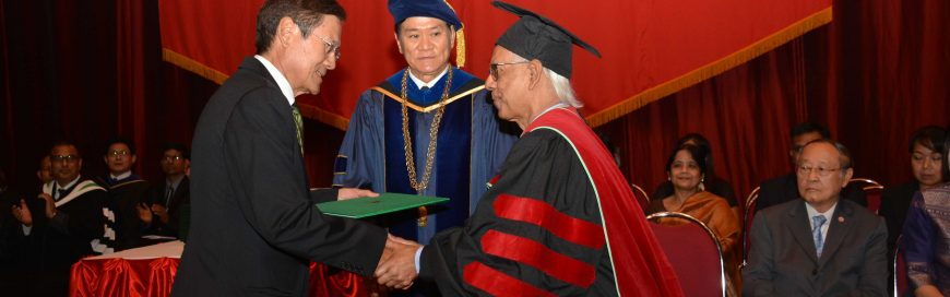 Prof ATM Nurul Amin felicitated with Emeritus Professor honor at Graduation